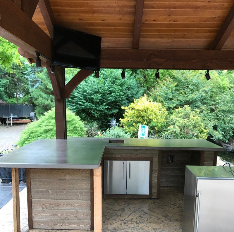 Outdoor patio with countertops